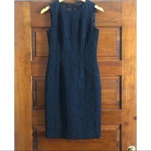 Elie Tahari | Textured Navy Black Sheath Dress 2